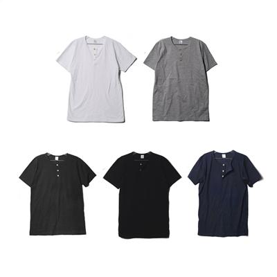 3버튼 면 헨리넥 반팔티 / 흰색 티셔츠 여름